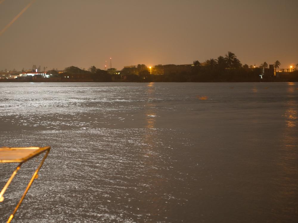 St Louis at night, Senegal