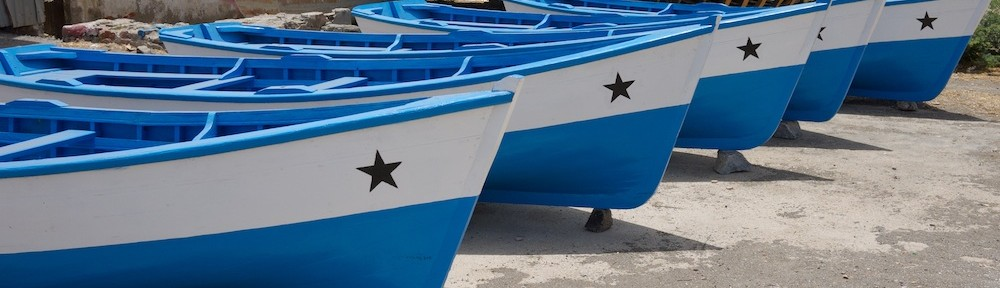 Newly painted boats, Praia, Cape Verde